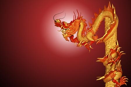 Dragon statue on background photo