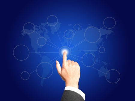 Business hand with Connection concept