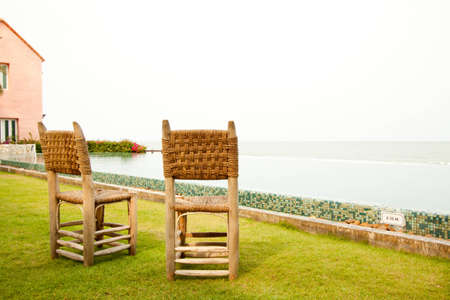 Wicker Chair in terrace photo