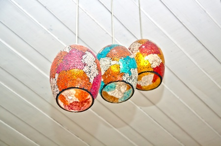 VIntage of colorful ceiling lamp photo