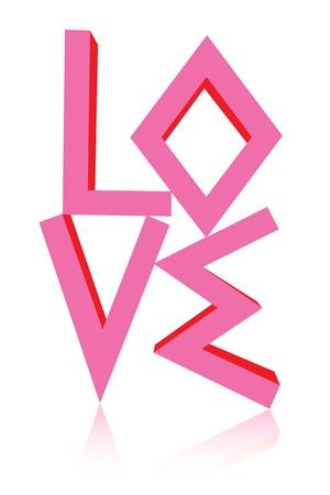 Wording love art isolated photo