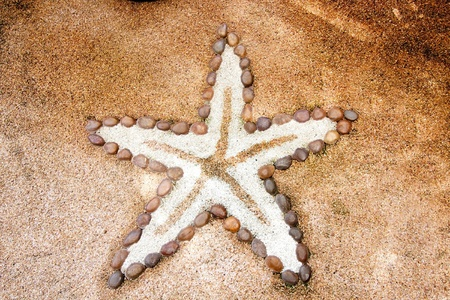 Small stone made in Starfish style background photo