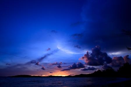 Dramatic sunset sky photo