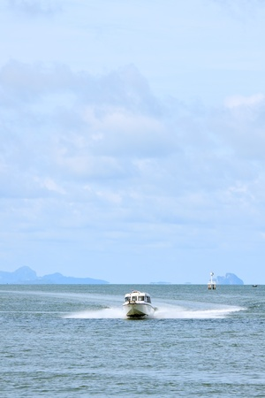 Speed boat on the sea of Thailand photo