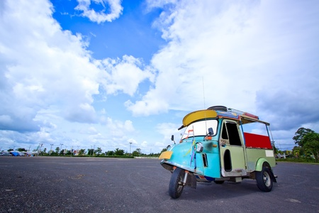 Thai traditional Tuk Tuk in Trang of Thailand photo