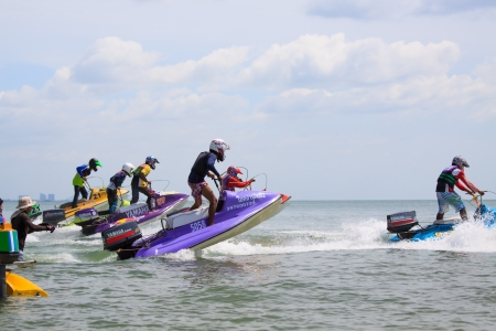HuaHin Jet Ski Racing Championships on June 24, 2012 Stock Photo - 14200456