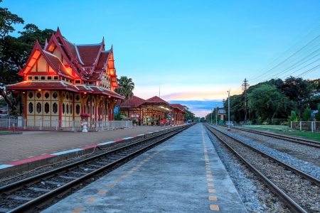 An image of the Hua Hin Railway station in Thailand photo