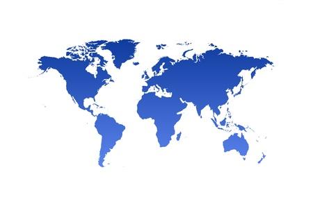 World Map isolated on white background Stock Photo - 16085010