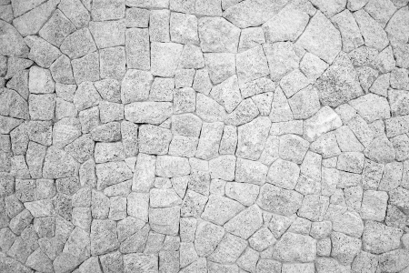 Monochrome of stone wall texture background photo