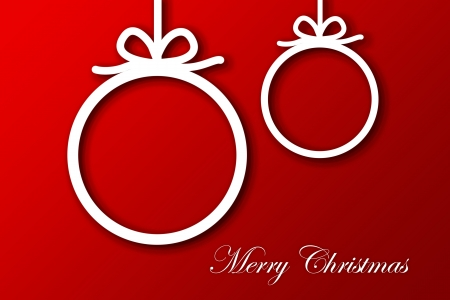Christmas Greeting Card, Merry Christmas lettering Stock Photo - 16507961
