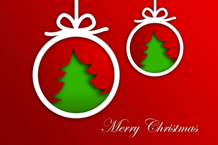 Christmas Greeting Card, Merry Christmas lettering Stock Photo - 16507969