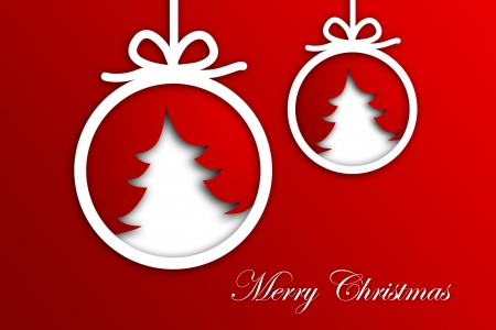 Christmas Greeting Card, Merry Christmas lettering Stock Photo - 16507968