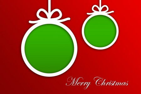 Christmas Greeting Card, Merry Christmas lettering Stock Photo - 16507964