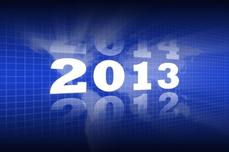 Abstract Background of Lighting New Year 2013 photo