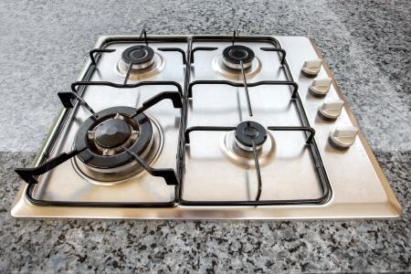 Quemadores de la estufa de gas en la cocina Foto de archivo - 18270036