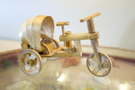 antique tricycle: Thai tricycle invents from the bamboo