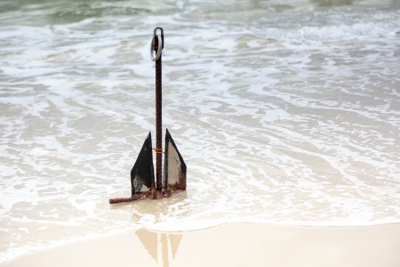 submerging: Anchor on the beach