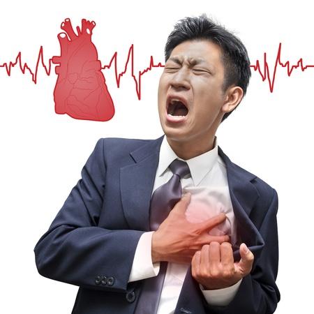 sick: Empresario ataque al coraz�n en aislado Foto de archivo