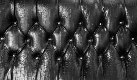 Black upholstery leather pattern background and texture photo