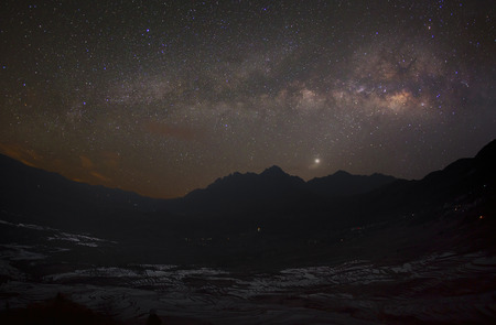 yuanyang: Milky way in Yuanyang - China