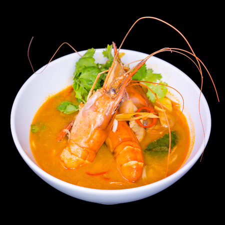 gung: Tom Yum Soup, Thai Food on white bowl