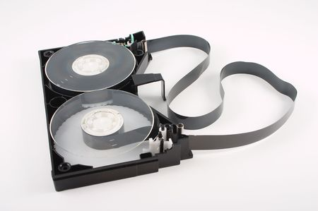 Disassembled video cassette tape 版權商用圖片 - 770343