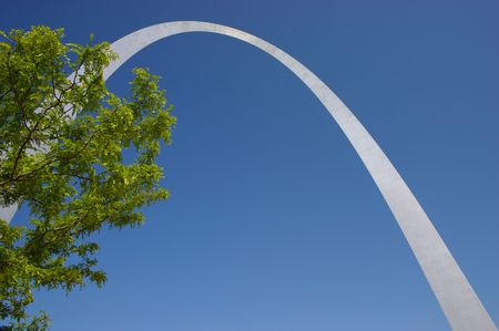 st  louis arch: Looking up at the St. Louis Arch