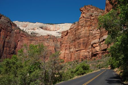 The road into Zion Canyon photo