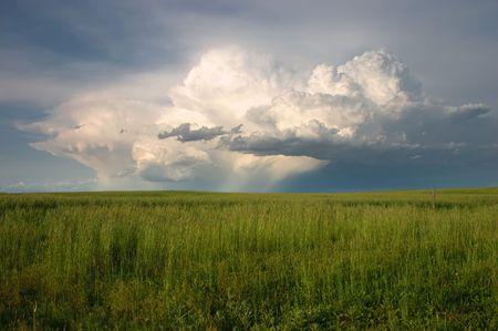 Spring Thunderstorm over the Colorado plains Stock Photo