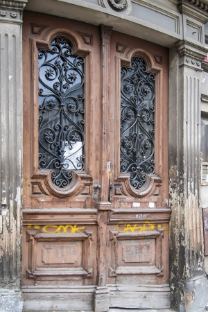 Old door in Prague Czech Republic photo