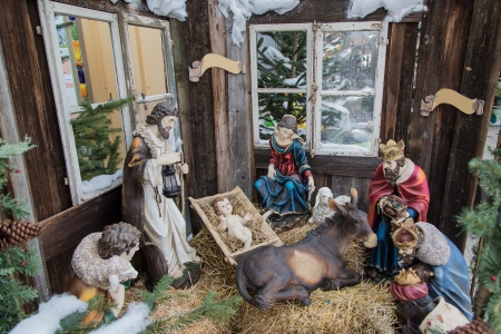 Christmas with Jesus Christ photo