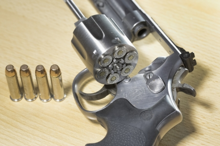 Pistol Revolver Gun Stock Photo - 17152835