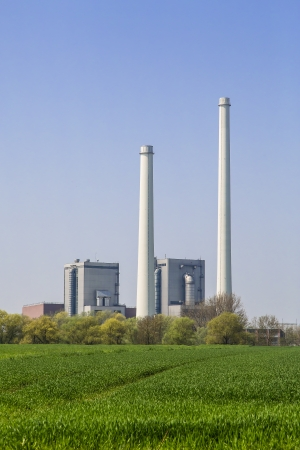 power operated: Power plant Pleinting in Bavaria Germany operated with fuel oil