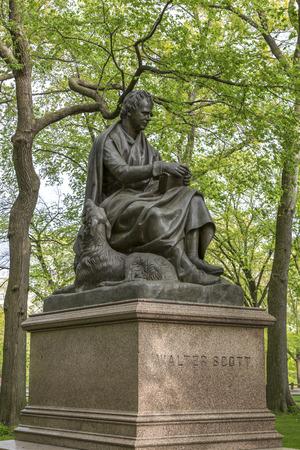 sir walter scott: Walter Scott statue in New York Stock Photo