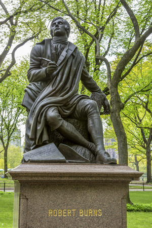 Robert Burns Statue in New York Standard-Bild - 25888582