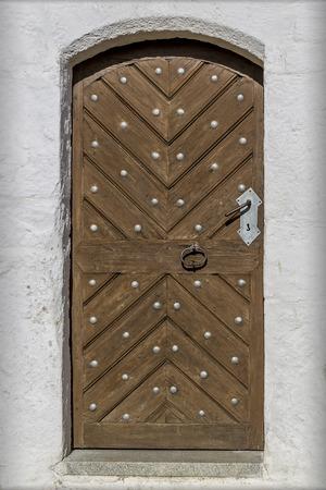 glaube: Castle ruins Hilgartsberg entrance door to George Stock Photo