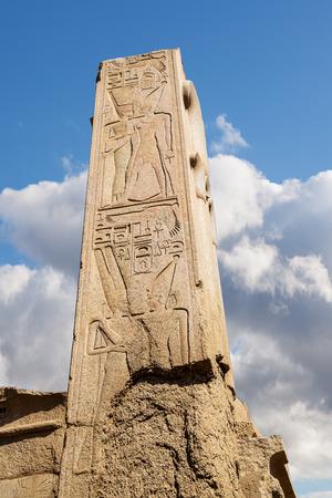 Obelisk Satue in Karnak temple in Luxor Egypt, Africa