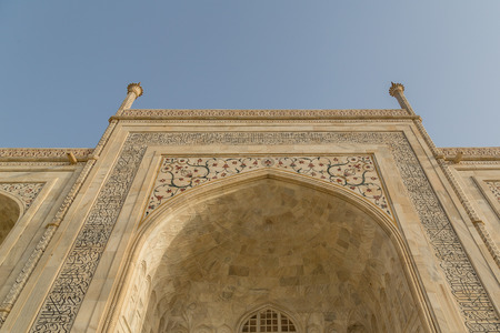 monument in india: Taj mahal , A famous historical monument on India Stock Photo