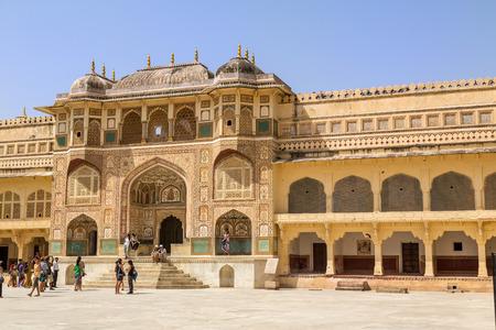 jagmandir: Beautiful Amber Fort near Jaipur city in India  Rajasthan
