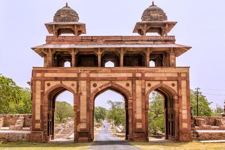 fatehpur: Courtyard of a palace, Panch Mahal, Fatehpur Sikri, Agra, Uttar Pradesh, India