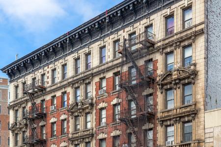 brownstone: Brownstone Homes in New York Stock Photo
