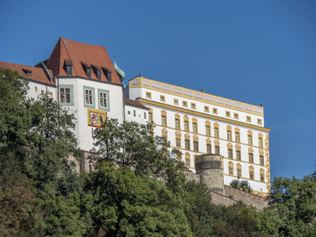 historical stronghold called veste oberhaus of the old historical city of passau in germany