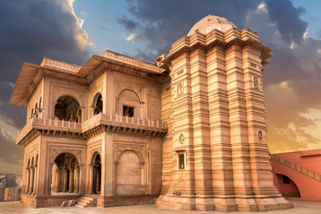 place of interest:  sandstone in India Rajastan Asia Stock Photo