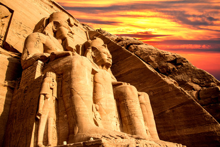 The temple of Abu Simbel in Egypt Standard-Bild