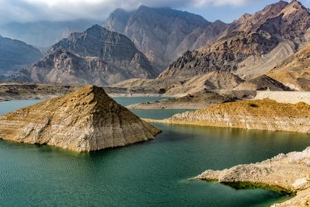 Colorful rocks in Wadi Bani Khalid near Muscat, Oman Standard-Bild