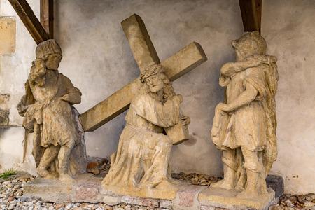 christus: Jesus Christ with cross, Church Maria Helpful Deggendorf, Germany