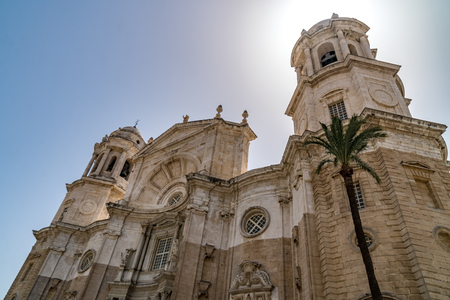 view of Cathedral. Cadiz, Spain