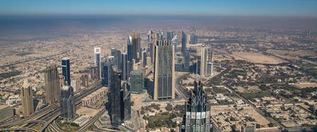 Skyline view Dubai in the United Arab Emirates UAE