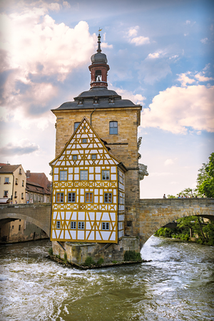 The historical town hall of Bamberg, Bavaria, Germany