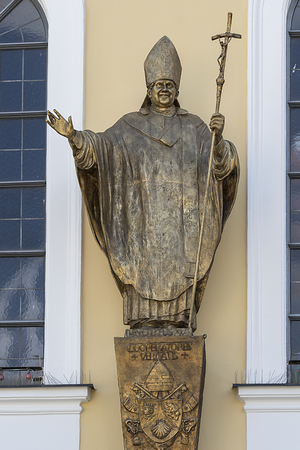 Pope John II bronze statue. Place of pilgrimage AltÃ??,¶tting in Germany